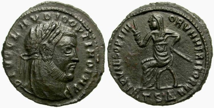 Ancient Coins - CLAUDIUS II, GOTHICUS.  AE FOLLIS.  THESSALONICA MINT. BEAUTIFUL REVERSE.