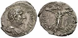 Ancient Coins - Hadrian. AR Denarius. Victory.
