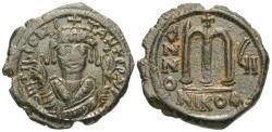 Ancient Coins - Byzantine Empire. Tiberius II Constantine. Æ Follis.