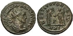 Ancient Coins - Probus. Antoninianus. Siscia Mint. Emperor Receives Wreath.