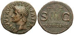Ancient Coins - Divus Augustus. Æ As. Altar-Enclosure.