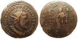 Ancient Coins - Postumus. Æ Double Sestertius. Fides Holding Two Ensigns.