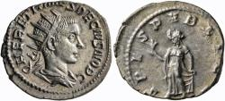 Ancient Coins - Herennius Etruscus, as Caesar. AR Antoninianus. From The Frank Sternberg Collection.