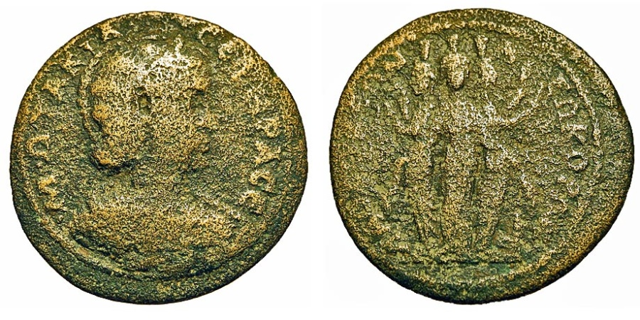 Ancient Coins - Phrygia, Laodiceia ad Lycum. Otacilia Severa - Wife Of Philip I. Hekate Triformis.