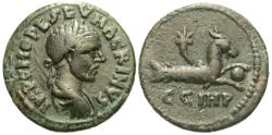 Ancient Coins - Mysia, Parium. Macrinus. Æ 22 mm. Capricorn.