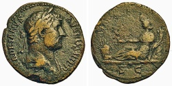 Ancient Coins - Hadrian. As. Africa.