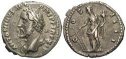 Ancient Coins - Antoninus Pius. AR Denarius. Very Rare Bust Type. See Note!