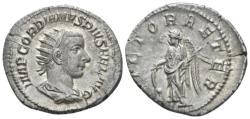 Ancient Coins - Roman Empire. Gordian III. AR Antoninianus. Victory.
