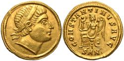 Ancient Coins - Constantine I. Gold Solidus. 'Eyes to God'.