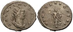 Ancient Coins - Gallienus. Æ Silvered Antoninianus. Antioch Mint. Hercules.