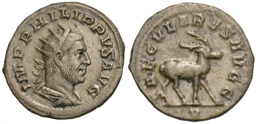 Ancient Coins - Philip I. AR Antoninianus. Ludi Saeculares.