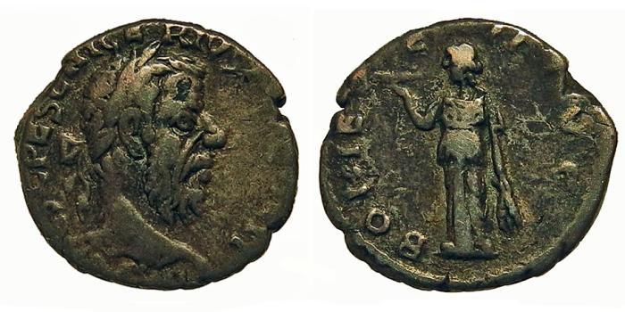 Ancient Coins - Pescennius Niger. Denarius. Fides. RARE.