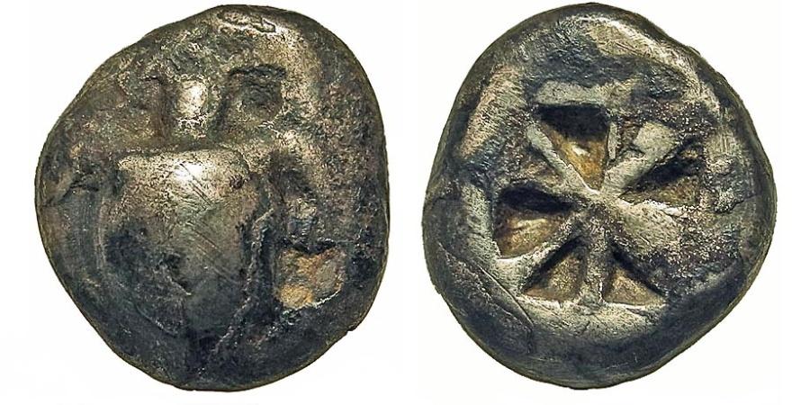 Ancient Coins - Aegina. (Aigina). Stater. Smooth-Shelled Sea Turtle.