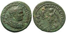 Ancient Coins - Macedon, Thessalonica. Caracalla. Nike With Cabeirus.