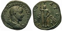Ancient Coins - Gordian III. Æ Sestertius. Jupiter.