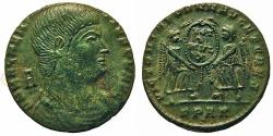 Ancient Coins - Magnentius. Æ Centenionalis. Arles Mint. Two Victoires.