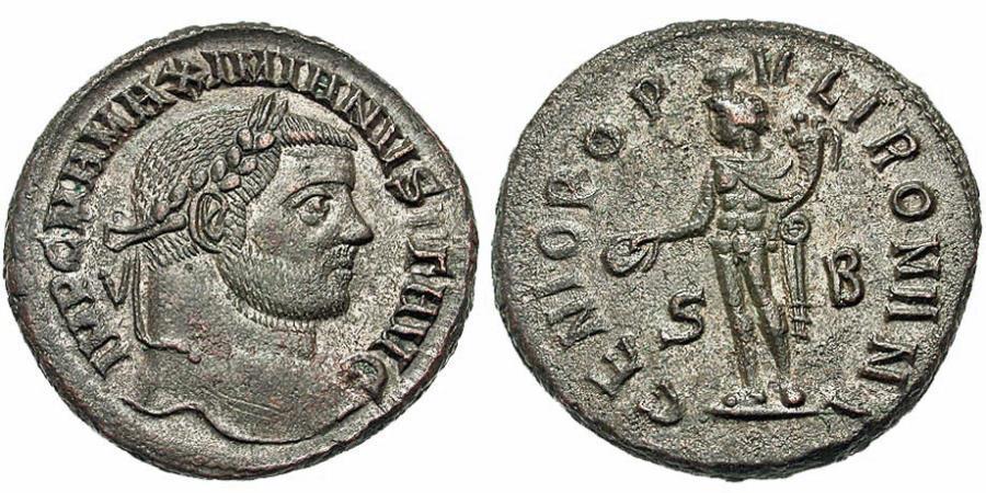 Ancient Coins - Maximianus. Follis. Genius. Sharp.