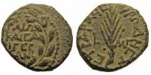 Ancient Coins - Herod Antipas. Tetrarch of Galilee. Half Denomination. For Caligula. RARE.