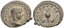 Ancient Coins - Severus Alexander, as Caesar. AR Denarius. RARE.