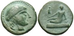 Ancient Coins - Thrace, Odessos. Æ 16 mm. Great God. Barbarous Imitation.