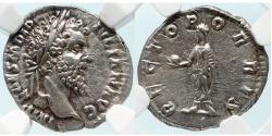 Ancient Coins - Didius Julianus. AR Denarius. NGC AU; Strike: 5/5; Surface: 4/5.
