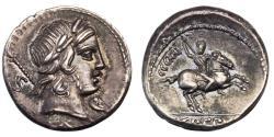 Ancient Coins - Roman Republic. Pub. Crepusius. AR Denarius. Eye Appeal.