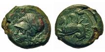 Ancient Coins - Sicily, Syracuse. Æ Litra. Dionysos I.