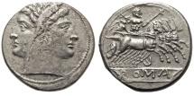 Roman Republic. AR Quadrigatus (Didrachm). Janus / Jupiter.