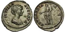 Ancient Coins - Plautilla - Wife Of Caracalla. Denarius. Concordia. Choice & Scarce.