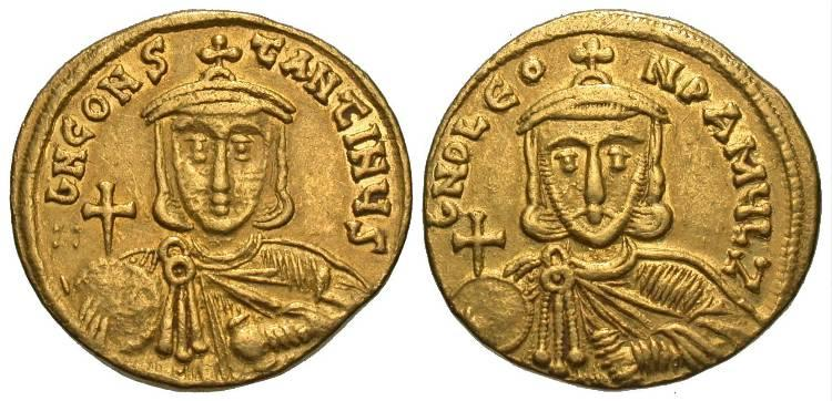 Ancient Coins - Byzantine Empire. Leo III, the Isaurian. Gold Solidus.