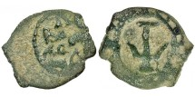 Ancient Coins - Herod I - The Great. Prutah. Anchor.