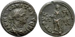 Ancient Coins - Roman Egypt. Tacitus. Billon Tetradrachm. Dikaiosyne. Alexandria mint.