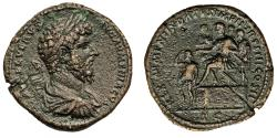 Ancient Coins - Lucius Verus. Æ Sestertius. Most Interesting Small Legends On Obverse Right!