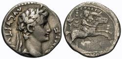 Ancient Coins - Augustus. AR Denarius. Gaius Caesar On Horseback.