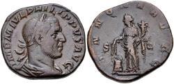 Ancient Coins - Philip I. Æ Sestertius. Annona..