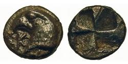 Ancient Coins - Aiolis, Kyme. Hemiobol. Eagle's Head. Sharp.