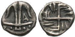 Ancient Coins - Thrace, Apollonia Pontika. AR Hemiobol. Swastika. RARE.