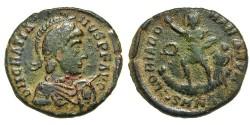 Ancient Coins - Gratian. Æ 2. Victory. Nicomedia Mint.