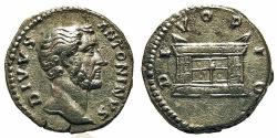 Ancient Coins - Divus Antoninus Pius. Denarius. Altar.