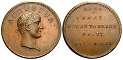 Ancient Coins - Augustus. Bronze Medal. Great Britain. c. A.D. 1780. Interesting!