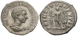 Ancient Coins - Diadumenian. AR Denarius. Sharp Portrait!