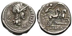 Ancient Coins - Roman Republic. M. Cipius. AR Denarius.