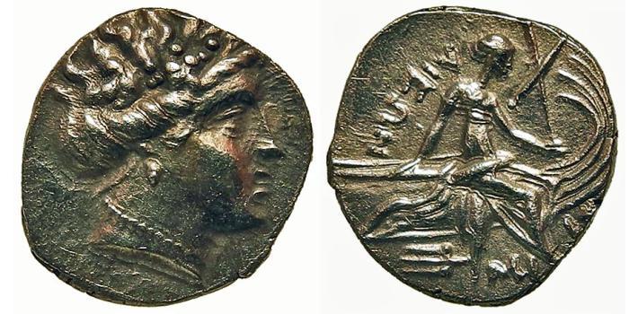 Ancient Coins - Euboea, Histiaia. Tetrobol. Nymph. Superb Example.