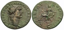 Ancient Coins - Trajan. Æ Dupondius. Abundantia.