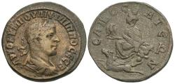 Ancient Coins - Syria, Commagene. Samosata. Philip II. Æ Tetrassarion.