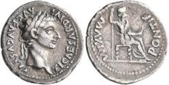 Ancient Coins - Tiberius. AR Denarius. 'Tribute Penny'.