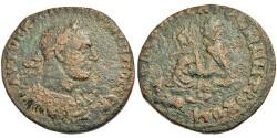 Ancient Coins - Commagene, Samosata. Philip I. Tyche On Rock w/Eagle & Pegasus.