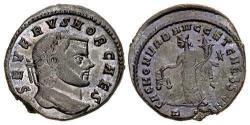 Ancient Coins - Severus II, as Caesar. Æ Follis. Partial Silvering.