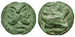 Ancient Coins - Roman Republic. Anonymous Æ Aes Grave As. Janus / Prow of Ship.