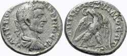 Ancient Coins - Judaea, Caesarea Maritima. Macrinus. AR Tetradrachm.
